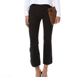 Cinq a Sept Ruffle Trousers High Waisted Ankle